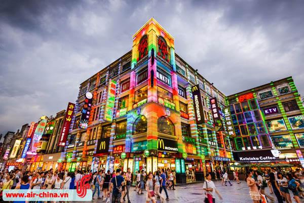 Shopping District in Guangzhou China