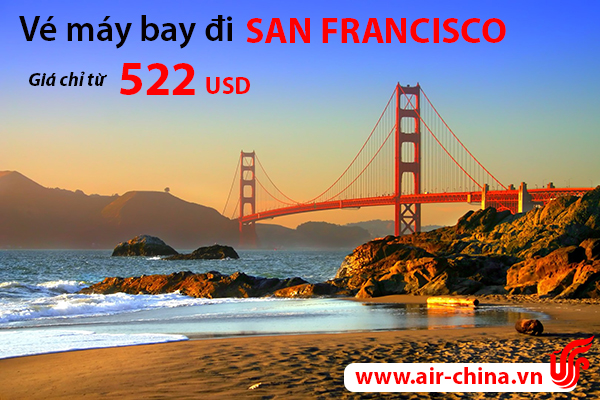 ve may bay di san francisco_airchina