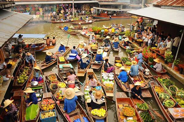 Những khu chợ nổi của Bangkok