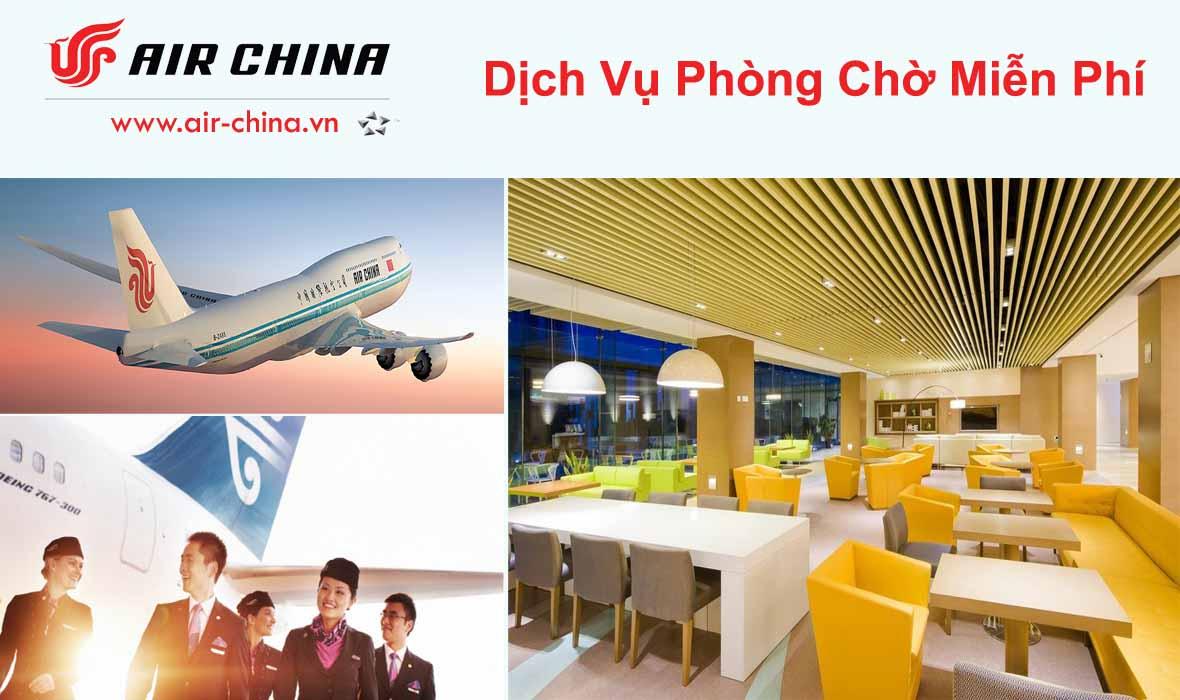 Dịch vụ phòng chờ miễn phí từ Air China
