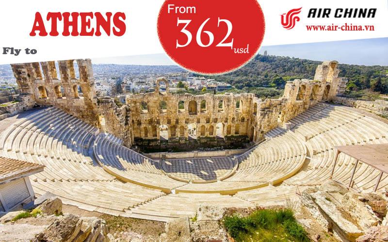 Vé máy bay đi Athens giá rẻ