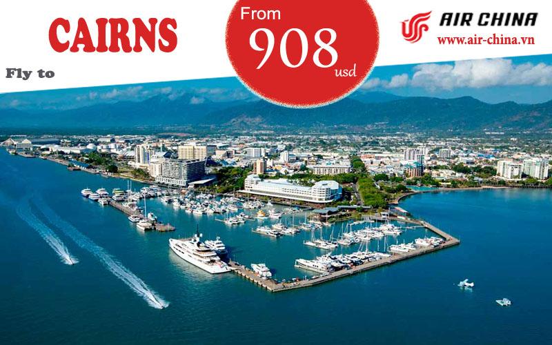 Vé máy bay đi Cairns giá rẻ